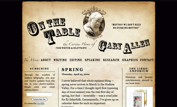 image of website Onthetable.us